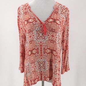Sanctuary Gauze Boho Tunic Top Sz L